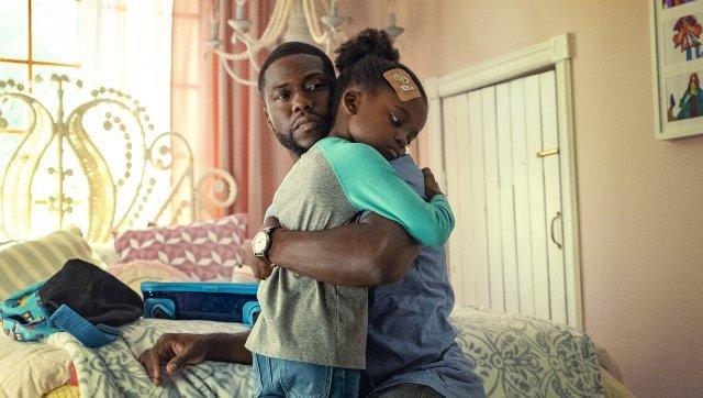 Kevin Hart and Melody Hurd. Phillippe Bosse/ Netflix.