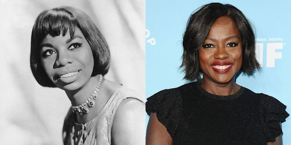 <p>While Viola Davis is known for taking on transformative roles, she wouldn't have to try too hard to play Nina Simone. The Oscar-winning actress looks a lot like the late singer, with similar noses, wide set eyes, and round faces. </p>