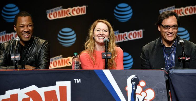 Corey Hawkins, Miranda Otto, and Jimmy Smits during the 24: Legacy panel at last fall's New York Comic Con
