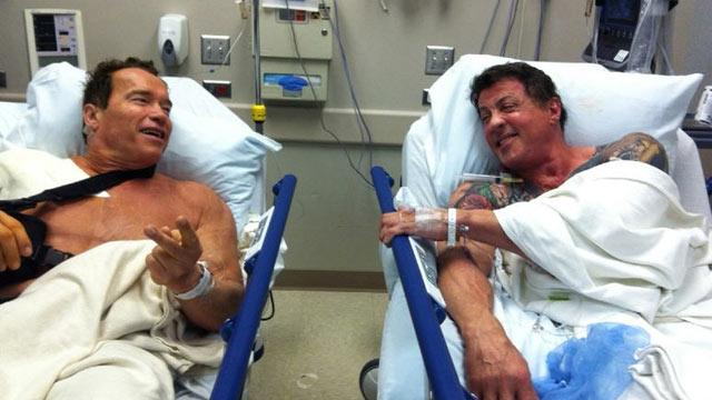 Schwarzenegger, Stallone: Friends Who Have Surgery Together