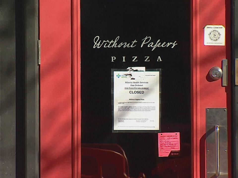 Owners of Calgary restaurant Without Papers Pizza chose not to follow the city's vaccine passport bylaw. (Mike Symington/CBC - image credit)
