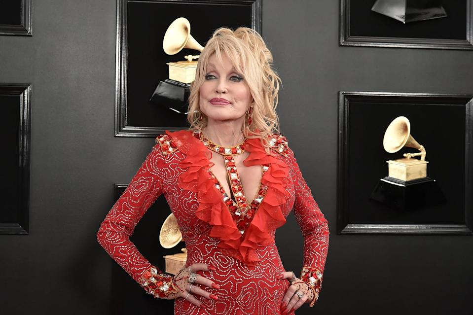 LOS ANGELES, CALIFORNIA - FEBRUARY 10: Dolly Parton attends the 61st Annual Grammy Awards at Staples Center on February 10, 2019 in Los Angeles, California. (Photo by David Crotty/Patrick McMullan via Getty Images)