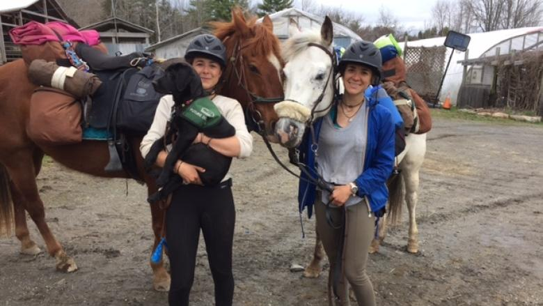 Sisters follow childhood dream of riding horses across Canada