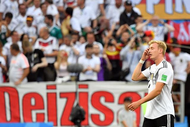 Germany forward Julian Brandt criticised over a selfie (AFP Photo/Yuri CORTEZ)