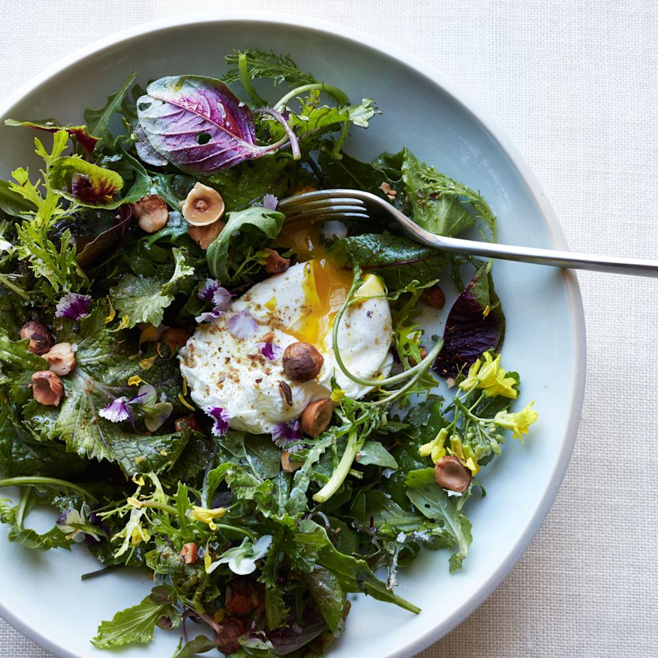 <p>At L'Arcangelo restaurant in Rome, chef Arcangelo Dandini makes this simple salad with whichever wild greens happen to be in season at the moment.</p>
