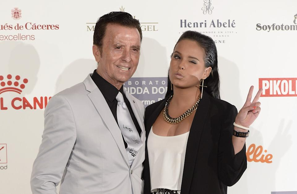 MADRID, SPAIN - JULY 06:  (L-R) Jose Ortega Cano and his daughter Gloria Camila Ortega attend Corazon Solidario Magazine Awards at Miguel Angel Hotel  on July 6, 2016 in Madrid, Spain.  (Photo by Fotonoticias/WireImage)