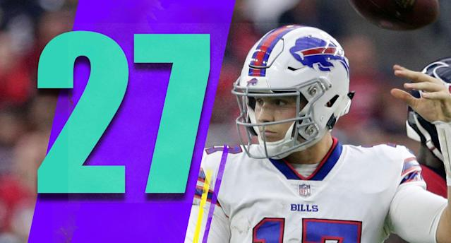 <p>Now we wait to see if Josh Allen's elbow injury allows him to start this week. (Josh Allen) </p>