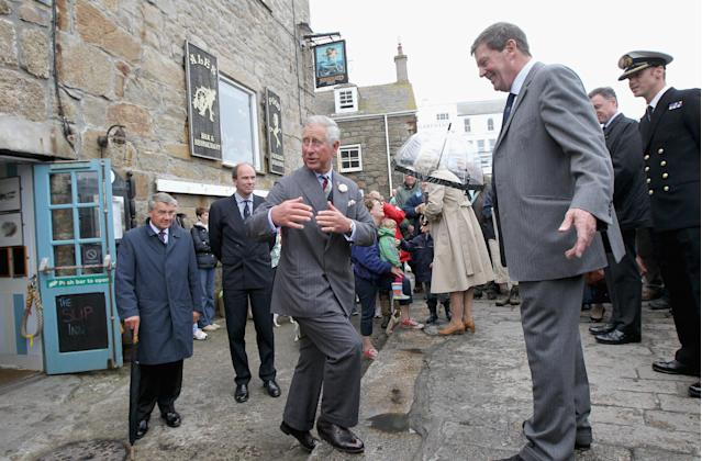 The prince makes regular visits around Cornwall. (Getty Images)