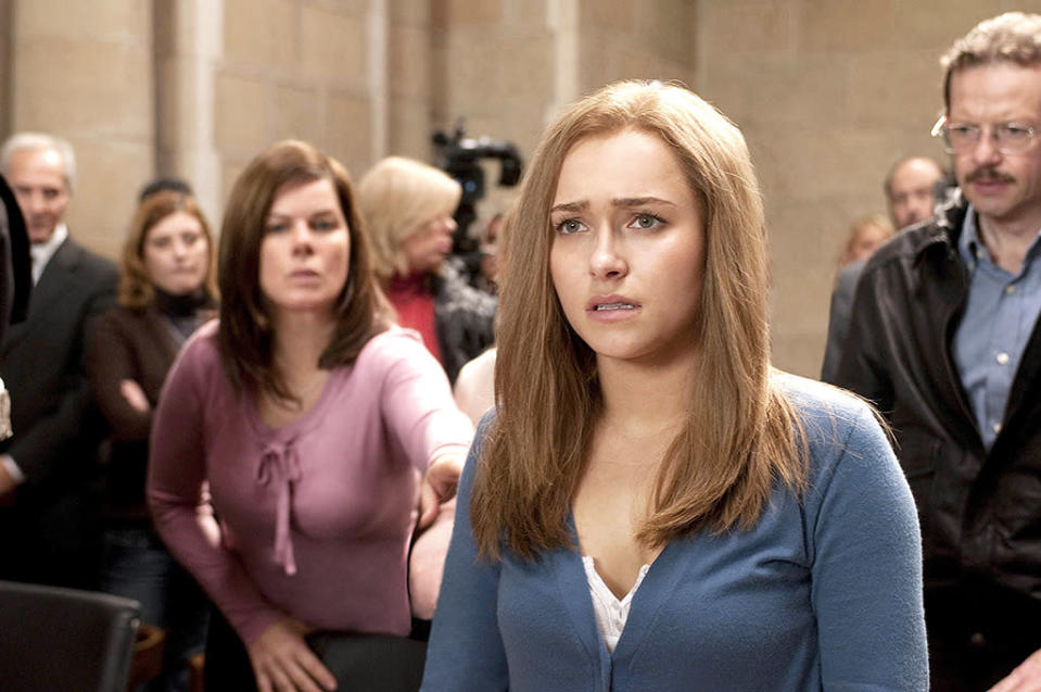 <p><b>Aired:</b> February 21, 2011 on Lifetime<br><b>Stars:</b> Hayden Panettiere and Marcia Gay Harden<br><br><b>Ripped from the headlines about:</b> Knox, the American student who spent nearly four years in jail in Italy after being accused of killing her roommate, Meredith Kercher, in 2007. Knox was initially convicted and sentenced to 26 years in prison, but, after nearly eight years of continuous legal wrangling and criticism of the Italian legal system proceedings by U.S. legal experts, she was ultimately acquitted of all charges against her in 2015.<br><br><i>(Credit: Lifetime)</i> </p>