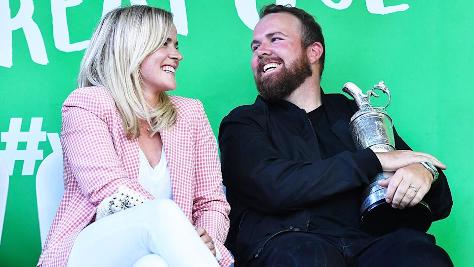 Shane Lowry, pictured here with wife Wendy after winning the British Open in 2019.