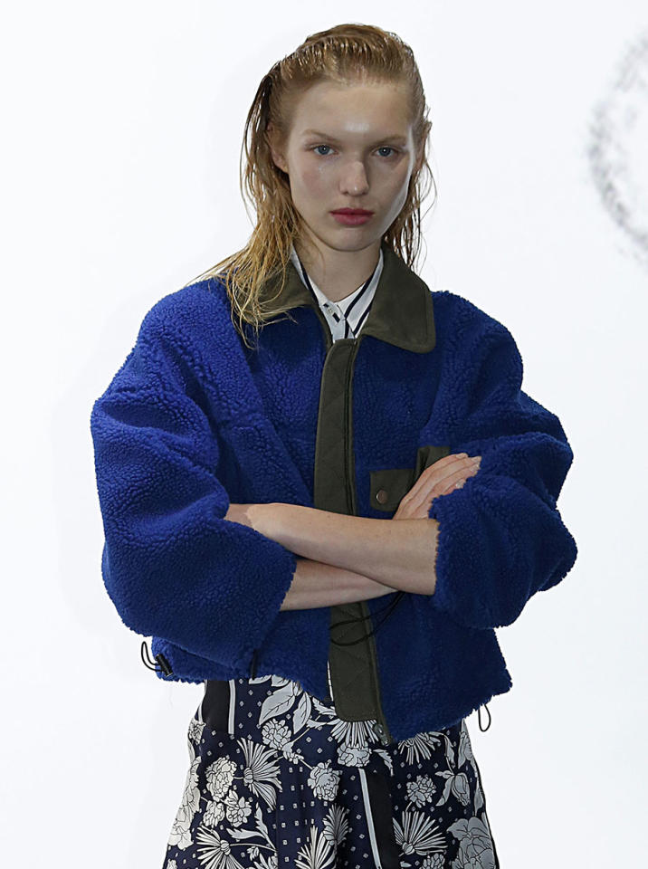 <p>Thakoon models sported glossy complexions with muted, matte red lips. Makeup artist Diane Kendal used NARS's new matte lip pencils in Famous Red, Let's Go Crazy, and Get Off to create the look. (Photo: Getty Images) </p>