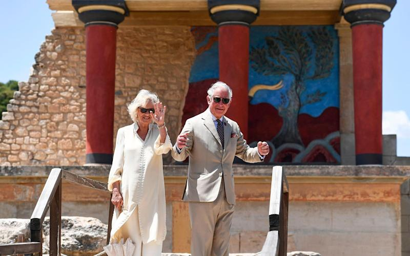 The Prince of Wales and Duchess of Cornwall in Crete in 2018 - Getty
