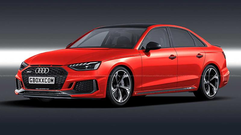 2020 Audi RS4 Sedan rendering lead image