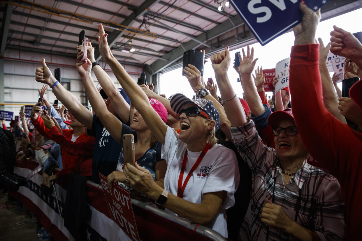 Supporters of President Trump cheer in Macon, Ga. (Photo: Evan Vucci/AP)