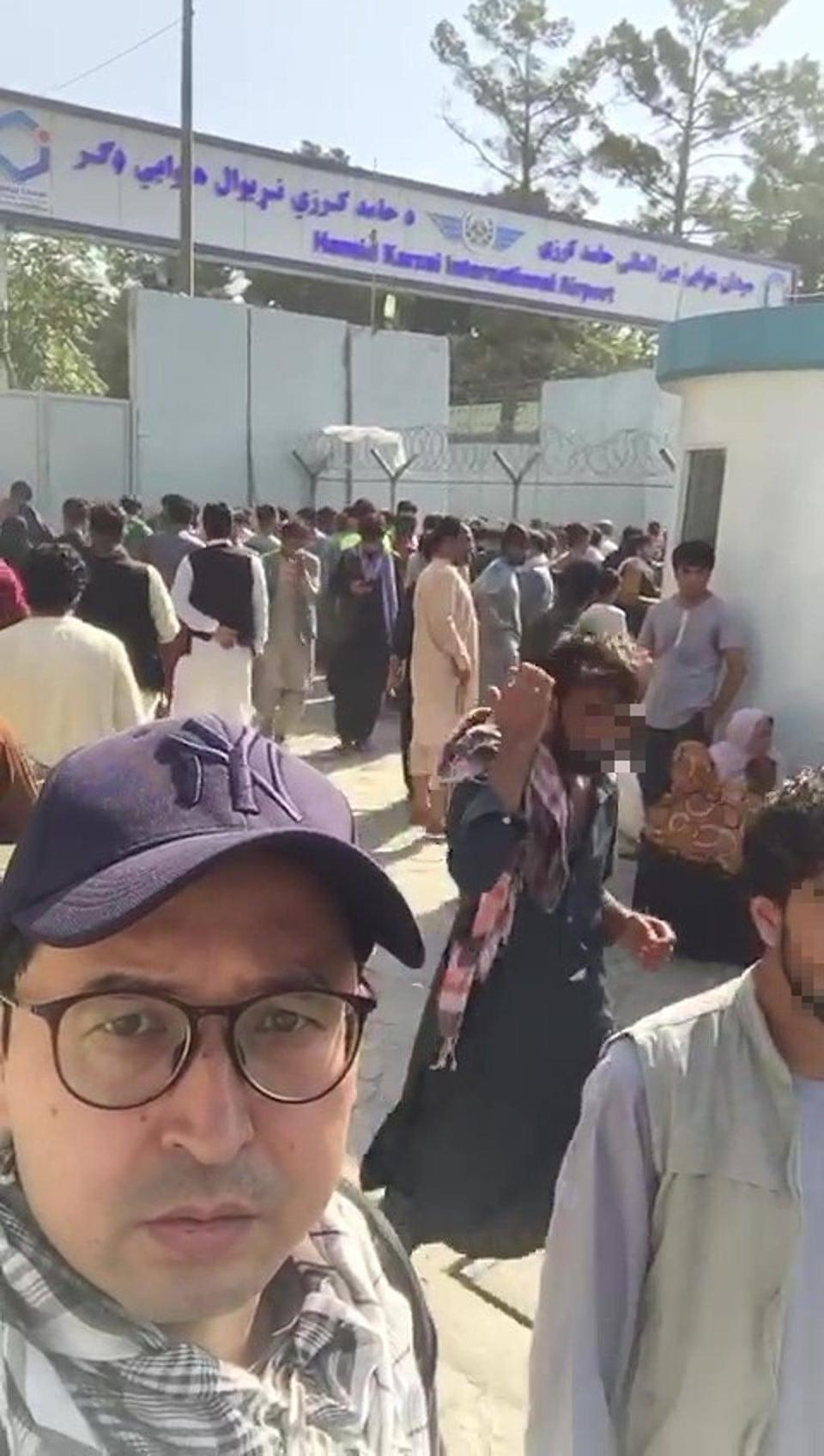 Mr Ghafoor said he had to wait for 11 hours to enter the compound of the aiport (Abdul Ghafoor)
