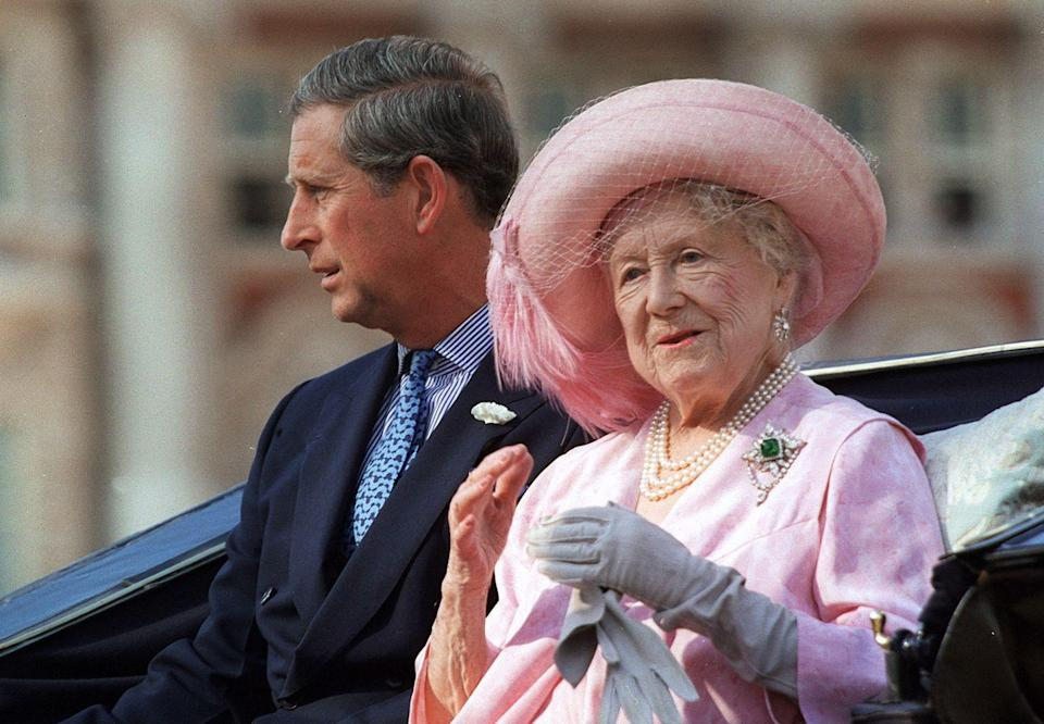 <p>For a London pageant celebrating her 100th birthday in 2000, the Queen Mother went with a delicate, all-pink outfit. </p>