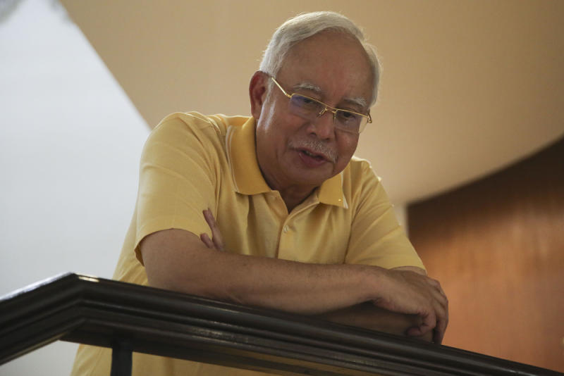 Former prime minister Datuk Seri Najib Razak speaks to Malay Mail during an interview inside his private residence in Kuala Lumpur May 19, 2018. — Picture by Yusof Mat Isa