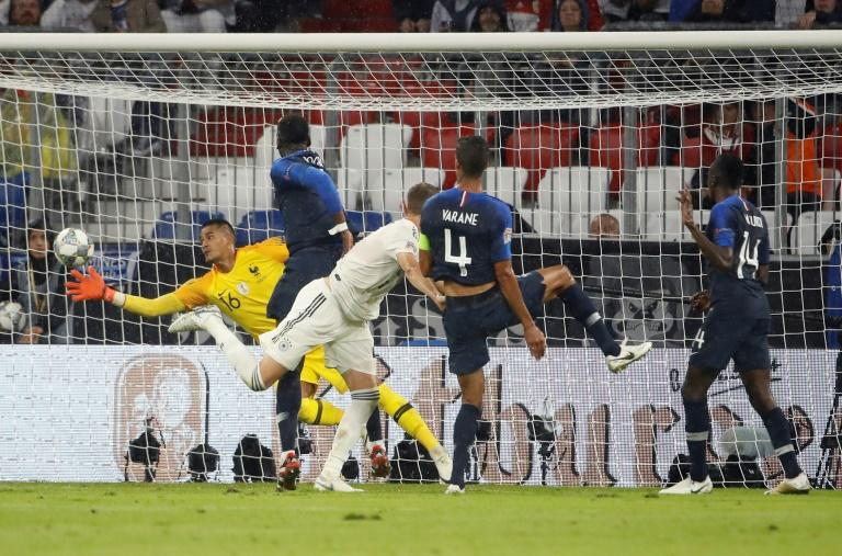 Alphonse Areola made some outstanding saves as World Cup winners France drew 0-0 with Germany in Munich