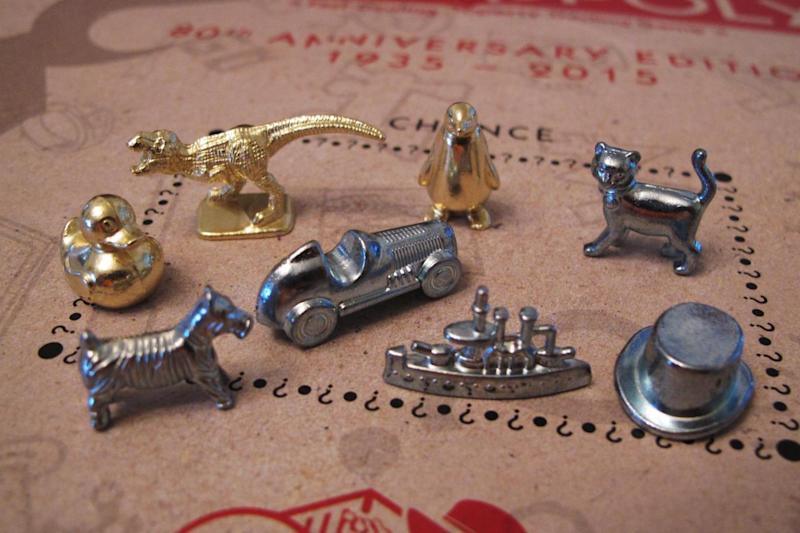 All together: The Monopoly tokens (AP)