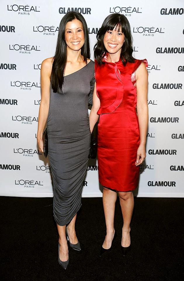 "Since the evening was about celebrating strong and inspirational women, it's fitting that Lisa Ling's sister, Laura (r), was recognized. The journalist made headlines earlier this year after she and Euna Lee were detained in North Korea. Dimitrios Kambouris/<a href=""http://www.wireimage.com"" target=""new"">WireImage.com</a> - November 9, 2009"
