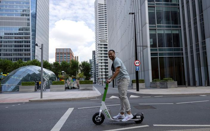 The Government launched its e-scooter trial in this summer - Getty