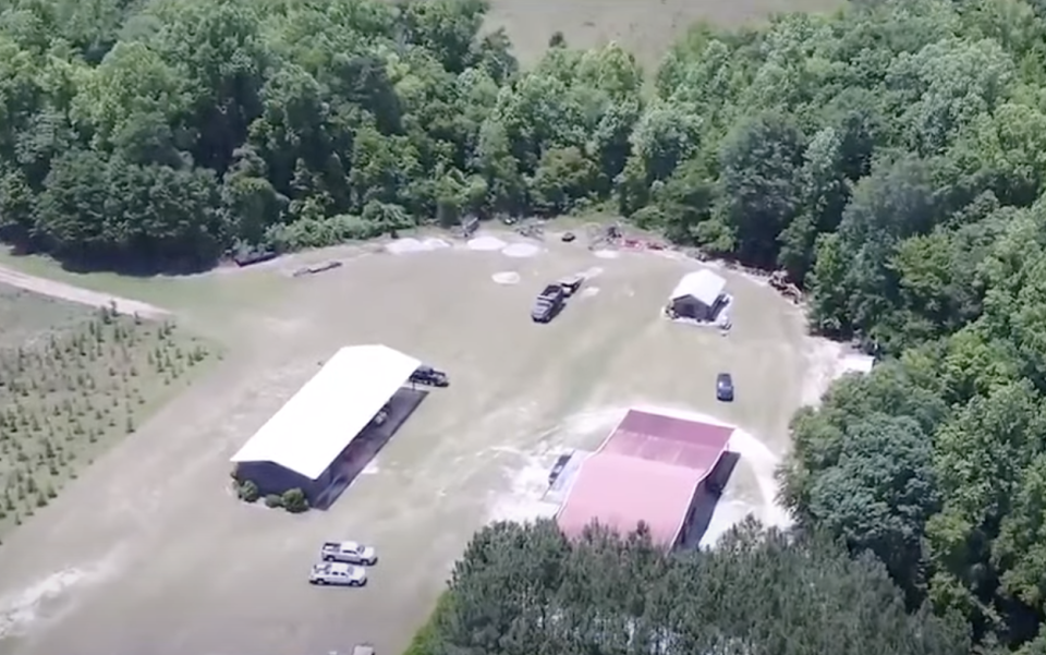 An aerial view of the Murdaughs' property in South Carolina.