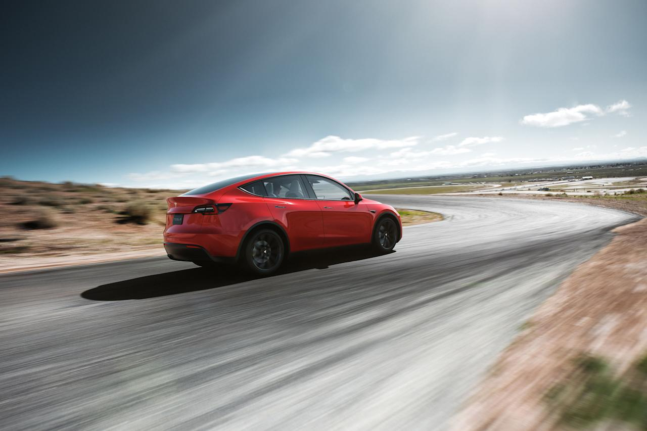 <p>The Model Y is the newest electric offering from Tesla. Based on the Model 3 sedan, it's a taller crossover with a more spacious interior. It offers a bit less range and performance than the Model 3 but is otherwise mechanically similar. Tesla CEO Elon Musk claims that Model Y deliveries will begin in fall 2020.</p>