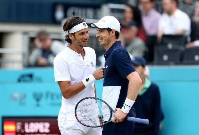 Feliciano Lopez (left) and Andy Murray (right) rekindled their winning Queen's double partnership in Cincinatti (Steve Paston/PA)