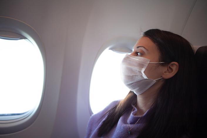 Passengers are required to wear masks while flying on a plane for all major U.S. airlines and at the airport.