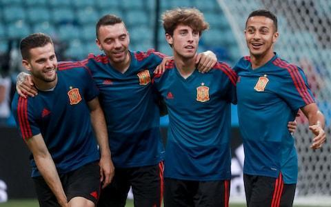 We give Spain's 2018 World Cup squad the thorough analysis it deserves below. This is your guide to everything you need to know about the players who will be representing their country at the tournament, when their games are taking place, who is in charge of the team, the key men to watch and how they're likely to fare in Russia. To read our comprehensive guide simply register with the Telegraph and log in to your account. Spain's World Cup squad - the 23 names 23-man final squad: David de Gea, Pepe Reina, Kepa Arrizabalaga, Jordi Alba, Nacho Monreal, Alvaro Odriozola, Nacho Fernandez, Dani Carvajal, Gerard Pique, Sergio Ramos, Cesar Azpilicueta, Sergio Busquets, Isco, Thiago Alcantara, David Silva, Andres Iniesta, Saul Niguez, Koke, Marco Asensio, Iago Aspas, Diego Costa, Rodrigo Moreno, Lucas Vazquez. �� OFICIAL | 46 millones de ilusiones en sus botas, en sus manos... ¡¡ESTOS SON #NUESTROS23!! �� ¡RT PARA APOYARNOS! pic.twitter.com/XBx0e4uOcB— Selección Española de Fútbol (@SeFutbol) May 21, 2018 Spain's World Cup 2018 fixtures Portugal 3 Spain 3 Iran vs Spain: Wednesday, June 20 at 7pm Morocco: Monday, June 25 at 7pm Spain's World Cup record World Cup record: Spain How should Spain line up? Pick your starting XI here: Pick your Spain XI for World Cup 2018 What odds are Spain to win the World Cup? 6/1 The kits See where Spain's shirts ends up in our ranking of all 64 World Cup shirts below: World Cup kits ranked Who's the coach? Fernando Hierro, for now. The former Real Madrid centre back stepped in for Julen Lopetegui at the 11th hour. The previous manager, was incredibly sacked after being confirmed as Real Madrid manager. What are his and Spain's tactics and likely formation? JJ Bull on why La Roja do not need a striker. Who's the star? Sergio Ramos, now captain, outstanding defender with the odd klutzy moment that redeems his propensity for astoundingly cynical fouls. Spain are in safe hands with David de Gea, with Pepe Reina on stand-by Credit: Getty Images Best thing about them The passing and movement of that ageing but still sinuous attacking midfield axis of Andres Iniesta and David Silva bolstered by the younger guns Koke and Isco. Worst thing about them The amount of effort Sergios Ramos and Busquets expend squealing, feigning assault and conning referees. World Cup 2018 | Fixtures, groups, squads and more You may recognise… Almost everyone in the squad but reserve a special hello for Pepe Reina, at his fourth World Cup like Iniesta and Ramos, but unlikely to add to his single appearance.. Cameramen will be picking out... Singer Shakira but hopefully Mrs Pique spares us a reprise of 2010's official anthem monstrosity, Waka Waka. Fans' favourite chant 'A por ellos oé' roughly translates as the Paul Weller-esque 'C'mon, let's go'. It's been a chaotic start to Spain's 2018 World Cup, but the action starts on Friday Credit: Getty Images On-field prediction Synthesis of new blood and imperishable class takes them to the semis. Off-field prediction Chic, sockless, primrose cashmere crowd blends with wineskin rowdies and Manolo and his infernal drum. Full 2018 World Cup squad lists and guides | Star to watch, odds, fans' chants and more WorldCup - newsletter promo - end of article