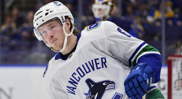 Brock Boeser is reportedly asking the Vancouver Canucks for $7-million per season. (Jeff Curry-USA TODAY Sports)
