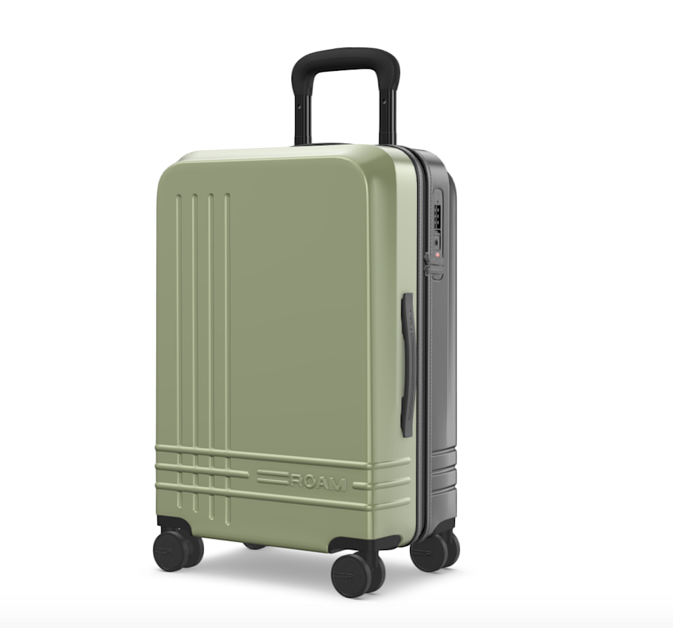 """<h2>ROAM The Jaunt Custom Carry-On</h2><br>ROAM is the ultimate when it comes to personalized luggage — the brand's suitcases cover a broad range of sizes (from smaller carry-ons to wide, medium, and large check-ins) and color customizations (from wheels to zipper pulls, stitching, and cases) that can be monogrammed with the savvy-traveler's initials for a stylish finishing flourish. Not to mention: Each suitcase is crafted out of a lightweight, 100% virgin Polycarbonate shell with a built-in TSA-approved lock and ball-bearing wheels.<br><br><em>Shop</em> <strong><em><a href=""""https://roamluggage.com/"""" rel=""""nofollow noopener"""" target=""""_blank"""" data-ylk=""""slk:ROAM"""" class=""""link rapid-noclick-resp"""">ROAM</a></em></strong><br><br><strong>ROAM</strong> The Jaunt, $, available at <a href=""""https://go.skimresources.com/?id=30283X879131&url=https%3A%2F%2Froamluggage.com%2Fproducts%2Fthe-jaunt"""" rel=""""nofollow noopener"""" target=""""_blank"""" data-ylk=""""slk:ROAM"""" class=""""link rapid-noclick-resp"""">ROAM</a>"""