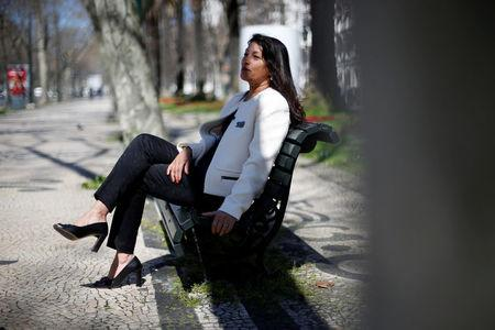Former CIA agent Sabrina de Sousa speaks during an interview with Reuters in downtown Lisbon