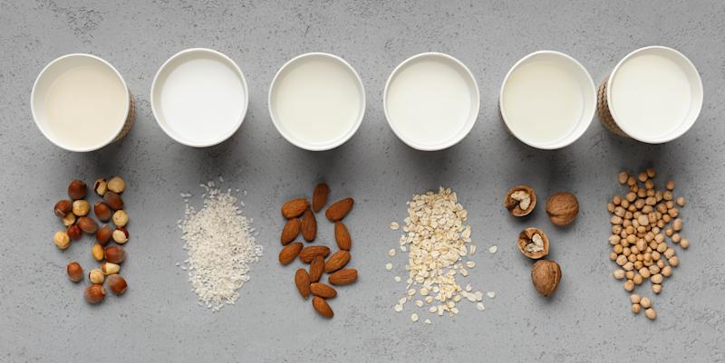 Have your tween swap out their milk for non-dairy alternatives, such as almond or coconut. (Photo: Getty Creative)