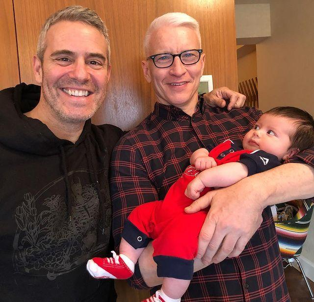 """<p>""""I'm a proud dad: my son gave Zaddy side eye, unprovoked,"""" Cohen <a href=""""https://www.instagram.com/p/BwAY-Hsl_a7/"""" rel=""""nofollow noopener"""" target=""""_blank"""" data-ylk=""""slk:captioned a photo"""" class=""""link rapid-noclick-resp"""">captioned a photo</a> of Ben looking at his Uncle Anderson in April 2019. </p>"""
