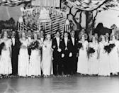 <p>Here's another couple who didn't take their day seriously, but approached their ceremony with whimsy. They decided to tie the knot on roller skates at their favorite rink!</p>