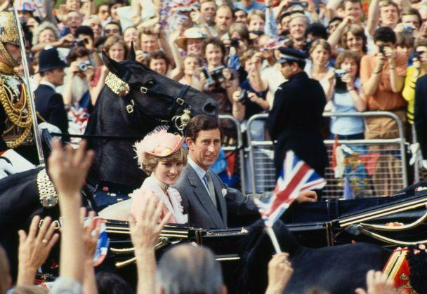 PHOTO: Prince Charles and Princess Diana leave Buckingham Palace for their honeymoon after their wedding in London, July 29, 1981. (Terry Fincher/Getty Images)