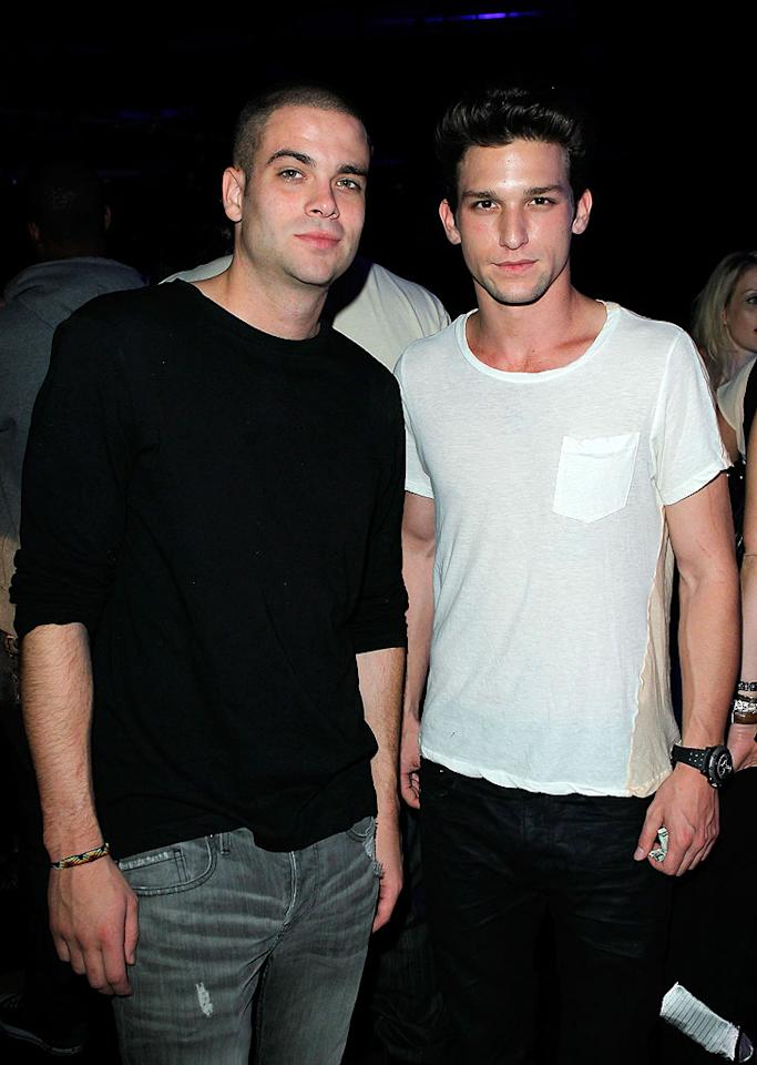 "Another ""Glee"" hottie, Mark Salling, hung out with ""The Secret Life of the American Teenager's"" Daren Kagasoff. Donato Sardella/<a href=""http://www.wireimage.com"" target=""new"">WireImage.com</a> - August 11, 2010"