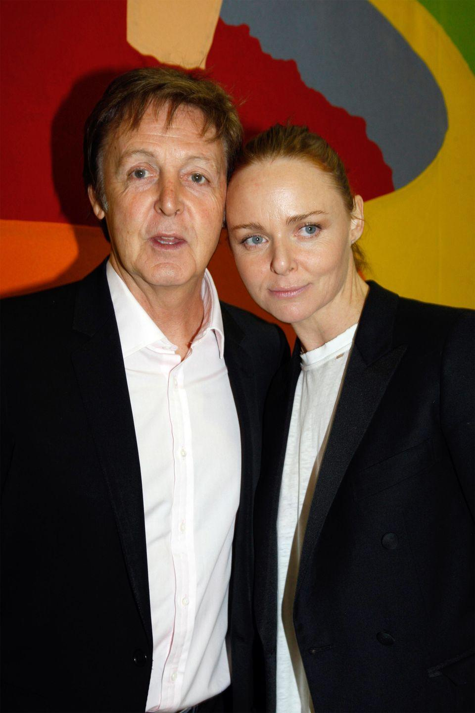 <p>Before she was a world-renowned fashion designer, Stella McCartney was just the daughter of everyone's favorite Beatle. She has his large eyes and facial structure to prove it. </p>