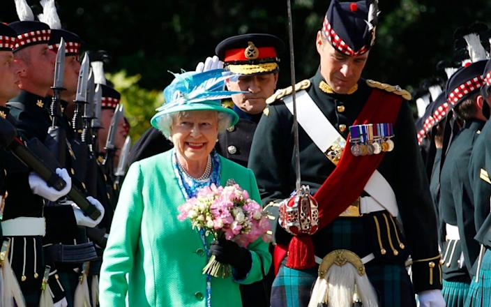 The Ceremony of the Keys at Holyrood Palace in 2012 - Reuters