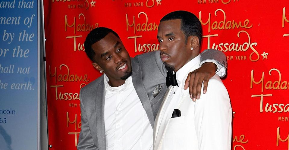 Diddy's waxwork has been destroyed. (Getty Images)
