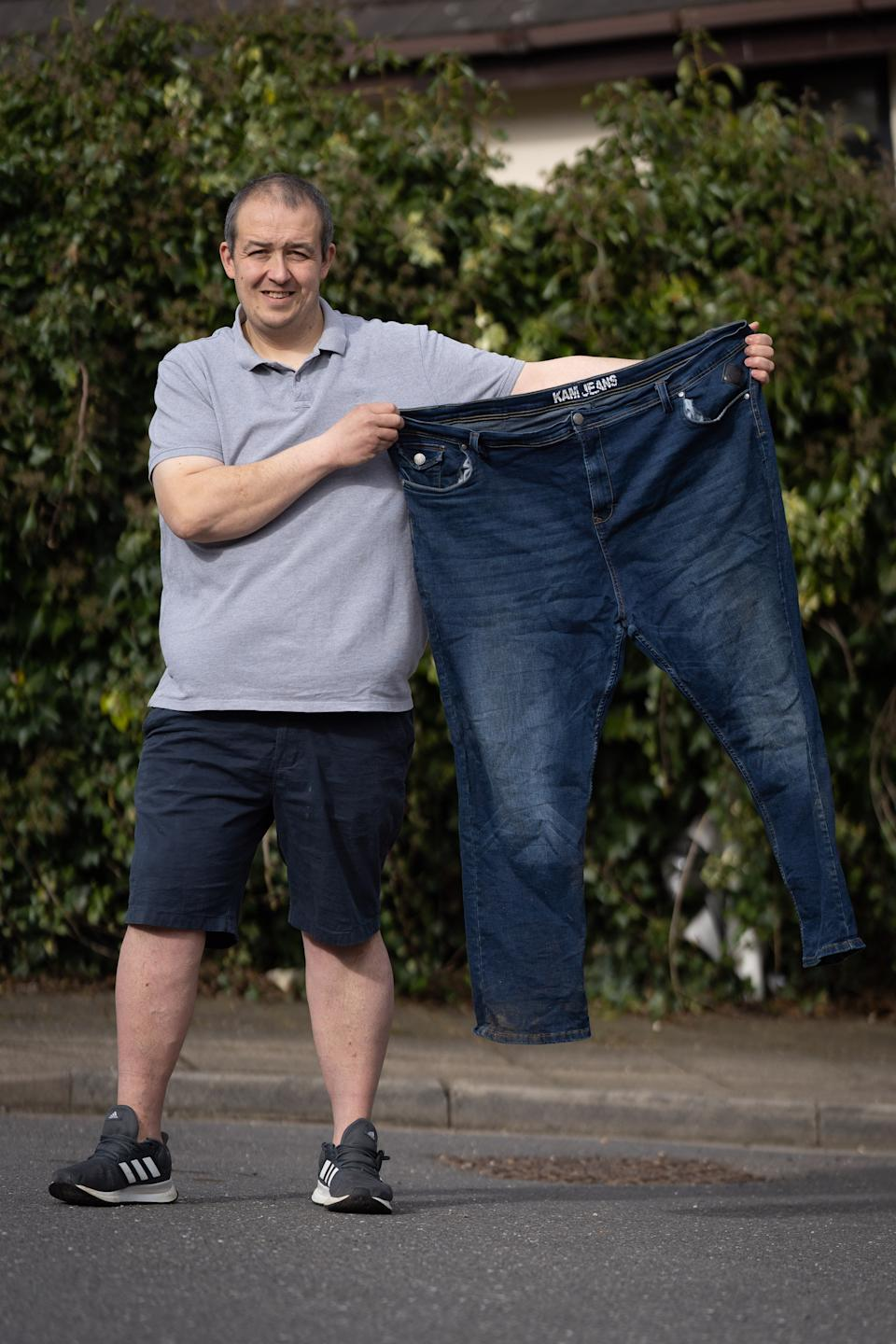 Matthew Howe lost a staggering 10 stone in weight in just six months. (SWNS)