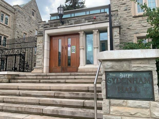 Western University is investigating multiple reports of sexual violence that are alleged to have happened at this student residence in London, Ont., over the weekend, at the end of orientation week.   (Kate Dubinski/CBC News - image credit)