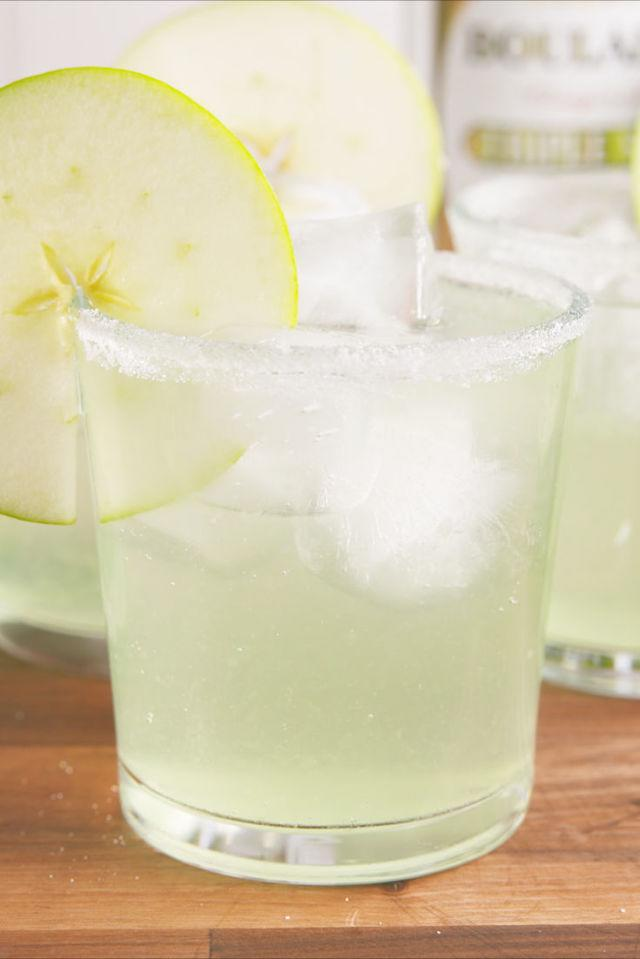 "<p><span>Your new go to party drink.</span></p><p>Get the recipe from <a rel=""nofollow"" href=""http://www.delish.com/cooking/recipe-ideas/recipes/a58512/sour-apple-margaritas-recipe/"">Delish</a>.</p><p><strong><em>BUY NOW: Sour Apple Schnapps, $13, <a rel=""nofollow"" href=""https://drizly.com/dekuyper-schnapps-apple/p2970?is_autocomplete=true"">drizly.com</a>.</em></strong></p>"