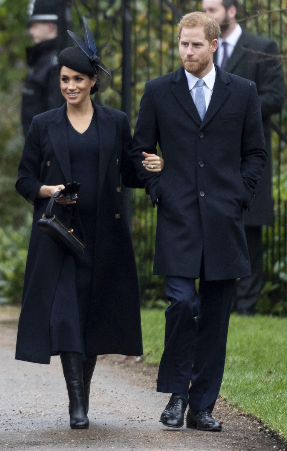 <p>On Christmas Day 2018, the 37-year-old wore a £1250 woolen dress by Victoria Beckham to church. She paired it with a £1550 structured 'Powder' box bag and a slim tailored wool coat (both also by the British designer). A Awon Golding hat completed the look. <em>[Photo: Getty]</em> </p>