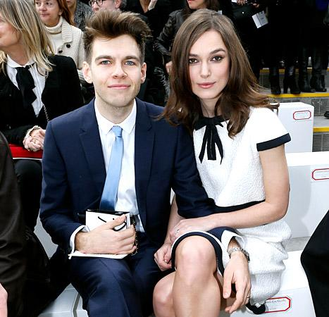Keira Knightley and her huisband, James Righton, attended the Chanel show as at Paris Fashion Week on March 4