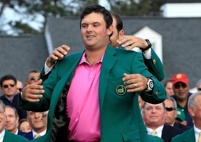 Patrick Reed is still wearing his Masters jacket, even when he heads to Chick-fil-A for lunch. (Getty Images)