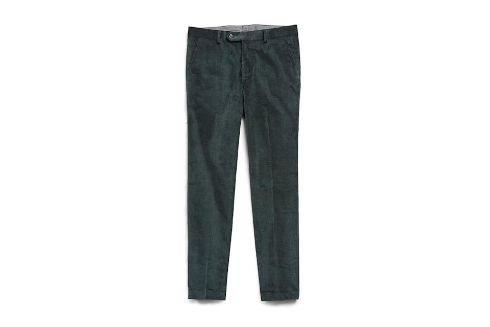"$228, Todd Snyder. <a href=""https://www.toddsnyder.com/collections/sale/products/emerald-cord-trouser-emerald"" rel=""nofollow noopener"" target=""_blank"" data-ylk=""slk:Get it now!"" class=""link rapid-noclick-resp"">Get it now!</a>"