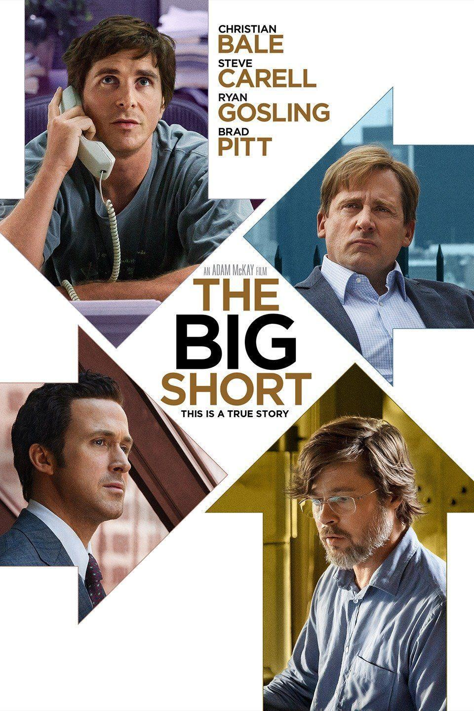 """<p><a class=""""link rapid-noclick-resp"""" href=""""https://www.amazon.com/Big-Short-Christian-Bale/dp/B019969US8?tag=syn-yahoo-20&ascsubtag=%5Bartid%7C10067.g.15907978%5Bsrc%7Cyahoo-us"""" rel=""""nofollow noopener"""" target=""""_blank"""" data-ylk=""""slk:Watch Now"""">Watch Now</a></p><p>Based on the best-selling book by Michael Lewis, <em>The Big Short</em> tells the story of a small cadre who saw the 2008 financial crash coming. The acting is superb—what with Christian Bale, Steve Carell, Ryan Gosling, and Brad Pitt, how could it not be?—and the film manages to make the minutiae of Wall Street comprehensible, even interesting. </p>"""
