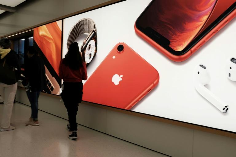 Apple no longer reports unit sales for its iPhones but said third-quarter 2019 revenue from smartphones was lower than in the same period of 2018 (AFP Photo/SPENCER PLATT)